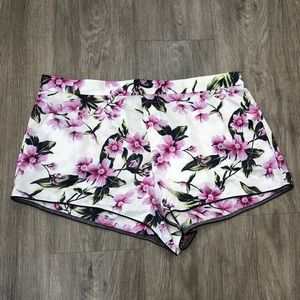 Victoria's Secret White Floral Shorts